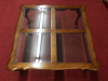 Vintage Cherry and Glass Coffee Table