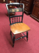 Hitchcock Chair, Vintage Black Decorated Chair