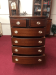 Vintage Mahogany Bowfront Chest