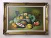 Vintage Still Life Painting, Framed