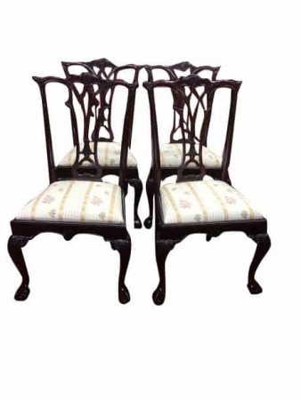 Vintage Mahogany Chippendale Dining Chairs