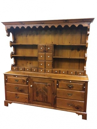 Pine Country Hutch Cabinet