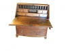 Antique Primitive Heart of Pine Secretary Desk
