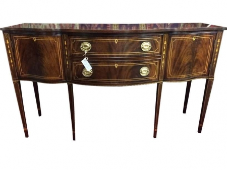 stickley mahogany inlaid federal style buffet sideboard. Black Bedroom Furniture Sets. Home Design Ideas
