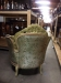 Vintage French Style Tufted Tub Chairs