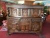 Kittinger Antique Oak Carved China Cabinet