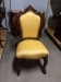 Carved Mahogany Gold French Provincial Dining Chairs