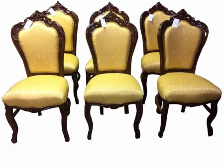 Gold French Provincial Dining Chairs