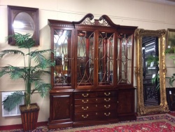 Sold - Thomasville Lighted Breakfront Cabinet $899