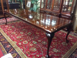 SOLD -- Thomasville Mahogany Table and Two Boards $899