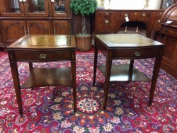SOLD Leather Top Mahogany Stands $129 each