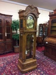 SOLD - Howard Miller Oak Grandfather Clock $799