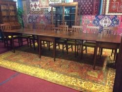 Antique Mahogany Banquet Table $2499