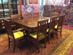Antique Banquet Table $2499, Chairs $199 each