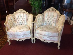Tufted Carved Tub Chairs $299 each
