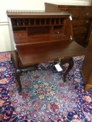 Antique Inlaid Mahogany Desk $1899